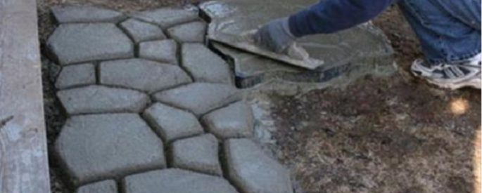 maison faire allee en beton