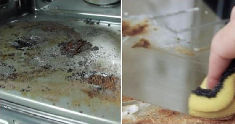 Voici comment nettoyer un four encrass une astuce g niale et facile - Nettoyer four tres sale ...