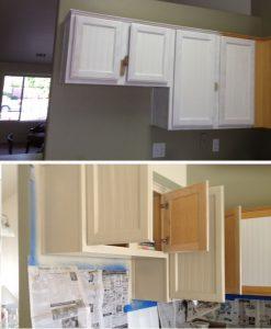 reno armoire cuisine papier peint avant apres 2