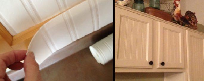 renovation armoire cuisine papier peint