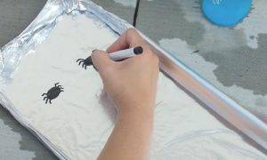 astuce bricolage enfant araignee