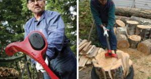 astuce hache couper du bois