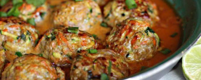 recette boulette poulet thai