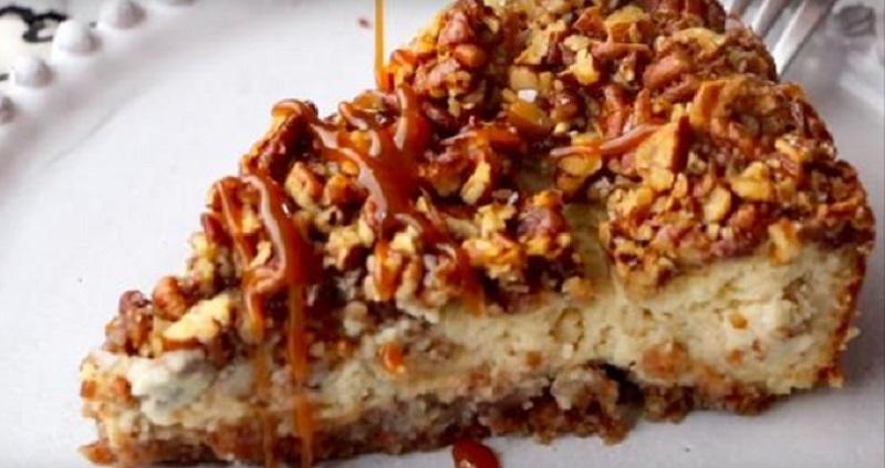 G teau au fromage aux noix de p can caram lis es original et d licieux - Recette gateau facile et original ...