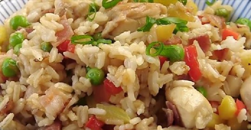 plat riz poulet